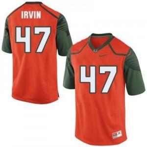 Michael Irvin Miami Hurricanes #47 - Orange Football Jersey