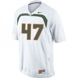 Michael Irvin U of M Hurricanes #47 - White Football Jersey