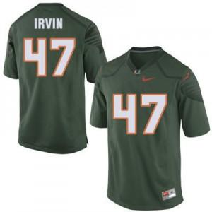 Michael Irvin Miami Hurricanes #47 Youth - Green Football Jersey
