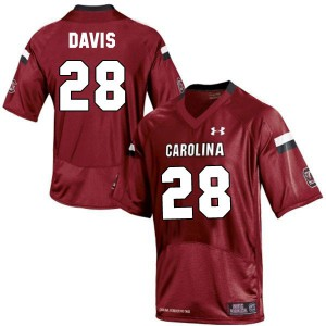 Mike Davis South Carolina Gamecocks #28 - Red Football Jersey