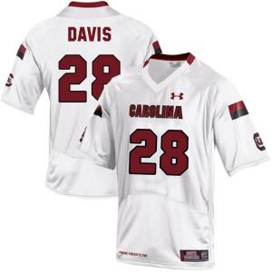 Mike Davis South Carolina Gamecocks #28 Youth - White Football Jersey