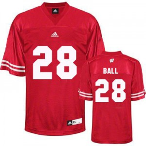 Montee Ball UW Badger #28 Youth - Red Football Jersey