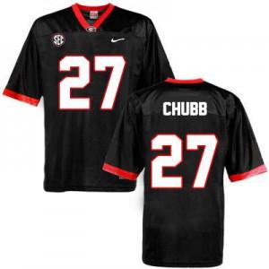 Nick Chubb Georgia Bulldogs #27 - Black Football Jersey