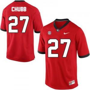 Nick Chubb Georgia Bulldogs #27 - Red Football Jersey
