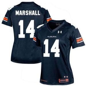 Nick Marshall Auburn Tigers #14 Women - Navy Blue Football Jersey