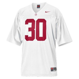 Alabama Crimson Tide Dont'a Hightower #30 White Youth Football Jersey
