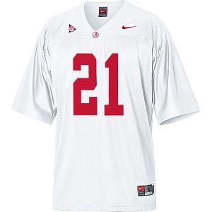 Alabama Crimson Tide Dre Kirkpatrick #21 White Football Jersey