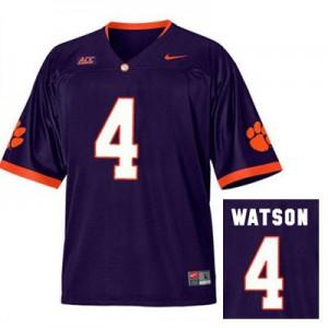 Deshaun Watson Clemson #4 Alternate - Purple Football Jersey