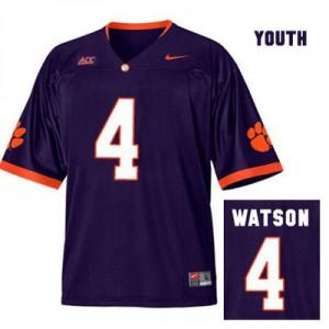 Deshaun Watson Clemson #4 Alternate - Purple - Youth Football Jersey