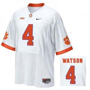 Deshaun Watson Clemson #4 Road - White Football Jersey