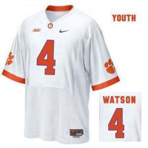 Deshaun Watson Clemson #4 Road - White - Youth Football Jersey