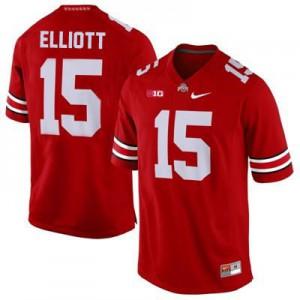 Ezekiel Elliott Ohio State Buckeyes #15 - Scarlet Football Jersey