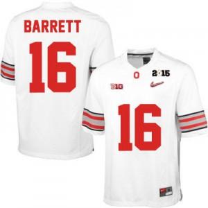 J.T. Barrett OSU #16 Diamond Quest 2015 Patch College - White Football Jersey