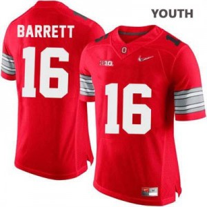 J.T. Barrett OSU #16 Diamond Quest Playoff - Scarlet Red - Youth Football Jersey