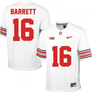 J.T. Barrett OSU #16 Diamond Quest Playoff - White Football Jersey