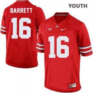 J.T. Barrett Ohio State Buckeyes #16 - Scarlet - Youth Football Jersey