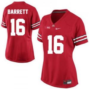 J.T. Barrett Ohio State Buckeyes #16 Women's - Red Football Jersey