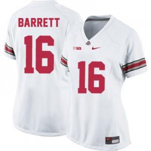 J.T. Barrett Ohio State Buckeyes #16 Women's - White Football Jersey
