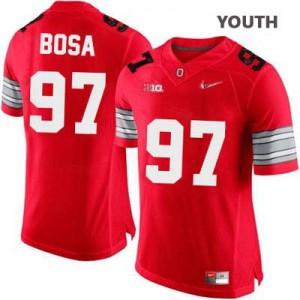 Joey Bosa OSU #97 Diamond Quest Playoff - Scarlet Red - Youth Football Jersey