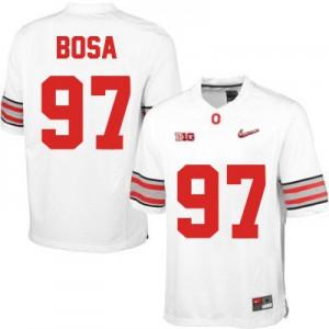 Joey Bosa OSU #97 Diamond Quest Playoff - White Football Jersey