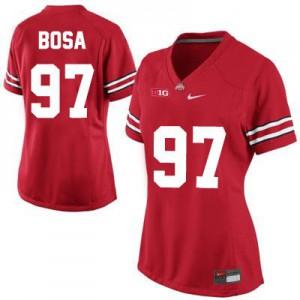 Joey Bosa Ohio State Buckeyes #97 Women's - Red Football Jersey