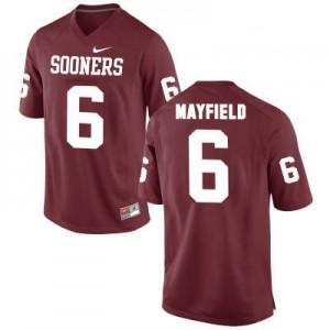 Oklahoma Sooners #6 Baker Mayfield Red Football Jersey