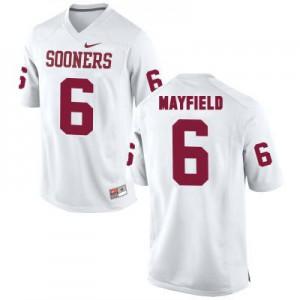 Oklahoma Sooners #6 Baker Mayfield White Football Jersey