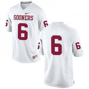 Oklahoma Sooners #6 Baker Mayfield White (No Name) Football Jersey