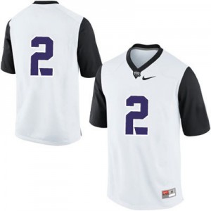 TCU Horned Frogs #2 College - White Football Jersey