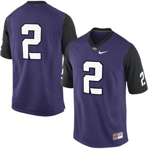 TCU Horned Frogs #2 College - Purple Football Jersey