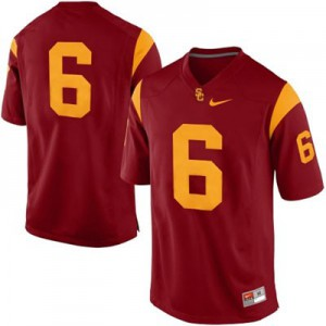 USC Trojans #6 College - Red Football Jersey