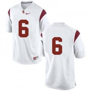 USC Trojans #6 College - White Football Jersey