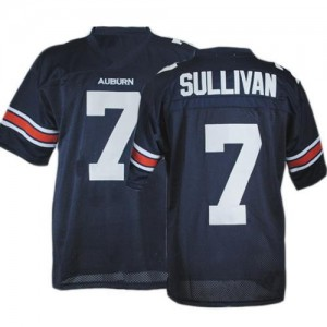 Pat Sullivan Auburn Tigers #7 Youth - Navy Blue Football Jersey