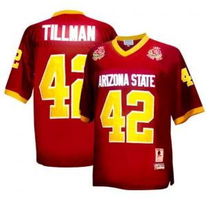 Pat Tillman Arizona State Sun Devils Sun Devils #42 1997 Rose Bowl Vintage - Red Football Jersey