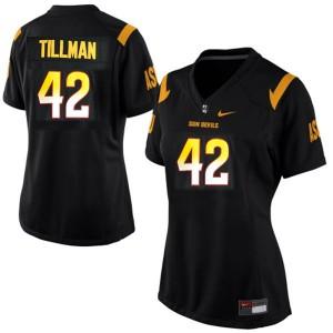 Pat Tillman Arizona State Sun Devils #42 Women - Black Football Jersey