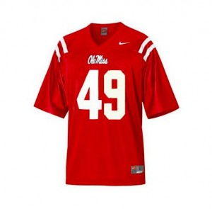 Patrick Willis Ole Miss Rebels #49 Youth - Red Football Jersey