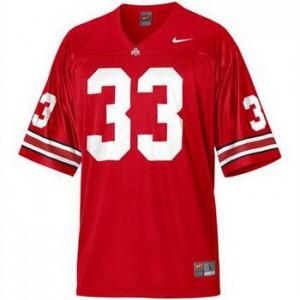 Pete Johnson Ohio State Buckeyes #33 - Scarlet Red Football Jersey