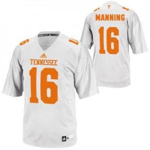 Peyton Manning Tennessee Volunteers #16 - White Football Jersey
