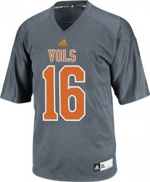 Peyton Manning Tennessee Volunteers #16 Youth - Gray Football Jersey