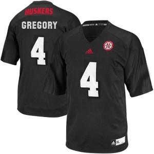 Randy Gregory Nebraska Cornhuskers #4 - Black Football Jersey