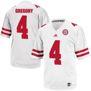 Randy Gregory Nebraska Cornhuskers #4 - White Football Jersey