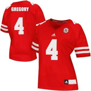 Randy Gregory Nebraska Cornhuskers #4 Women - Red Football Jersey