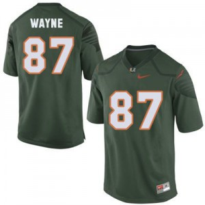 Reggie Wayne Miami Hurricanes #87 - Green Football Jersey