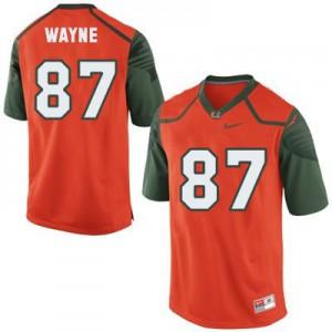 Reggie Wayne Miami Hurricanes #87 - Orange Football Jersey