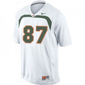 Reggie Wayne Miami Hurricanes #87 Youth - White Football Jersey