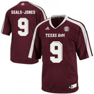 Ricky Seals Jones Texas A&M Aggies #9 - Maroon Red Football Jersey