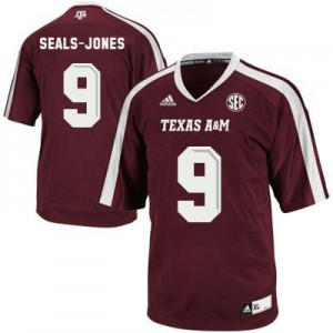 Ricky Seals Jones Texas A&M Aggies #9 Youth - Maroon Red Football Jersey
