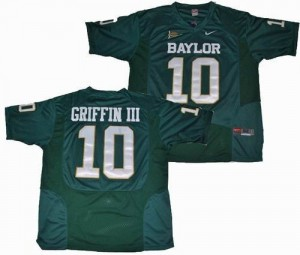 Robert Griffin III Baylor Bears #10 Youth - Green Football Jersey