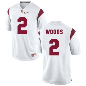 Robert Woods USC Trojans #2 - White Football Jersey
