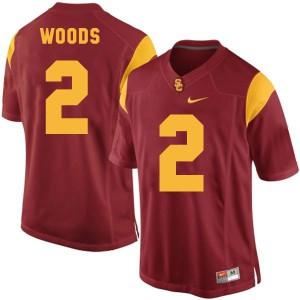 Robert Woods USC Trojans #2 Youth - Red Football Jersey